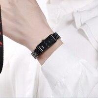 DALISHI Top Brand Women Ceramic Quartz Watch Ladies Business Dress Wristwatch Girl Fashion Casual Rectangle Dial Simple Clock