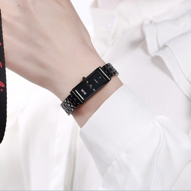 DALISHI Top Brand Women Ceramic Quartz Watch Ladies Business Dress Wristwatch Girl Fashion Casual Rectangle Dial Simple Clock цена 2017
