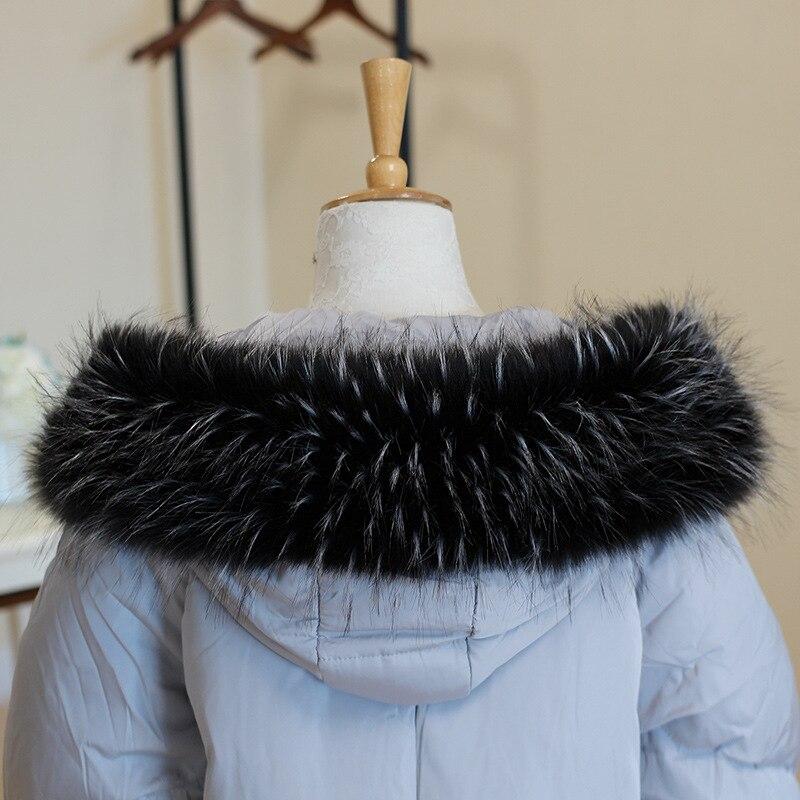 raccoon fur collar   scarf   70cm 75cm 80cm 85cm 90 cm Big Size Warm faux fur mink Long   Scarf     wrap   for lady Coat Neck warmer   wrap