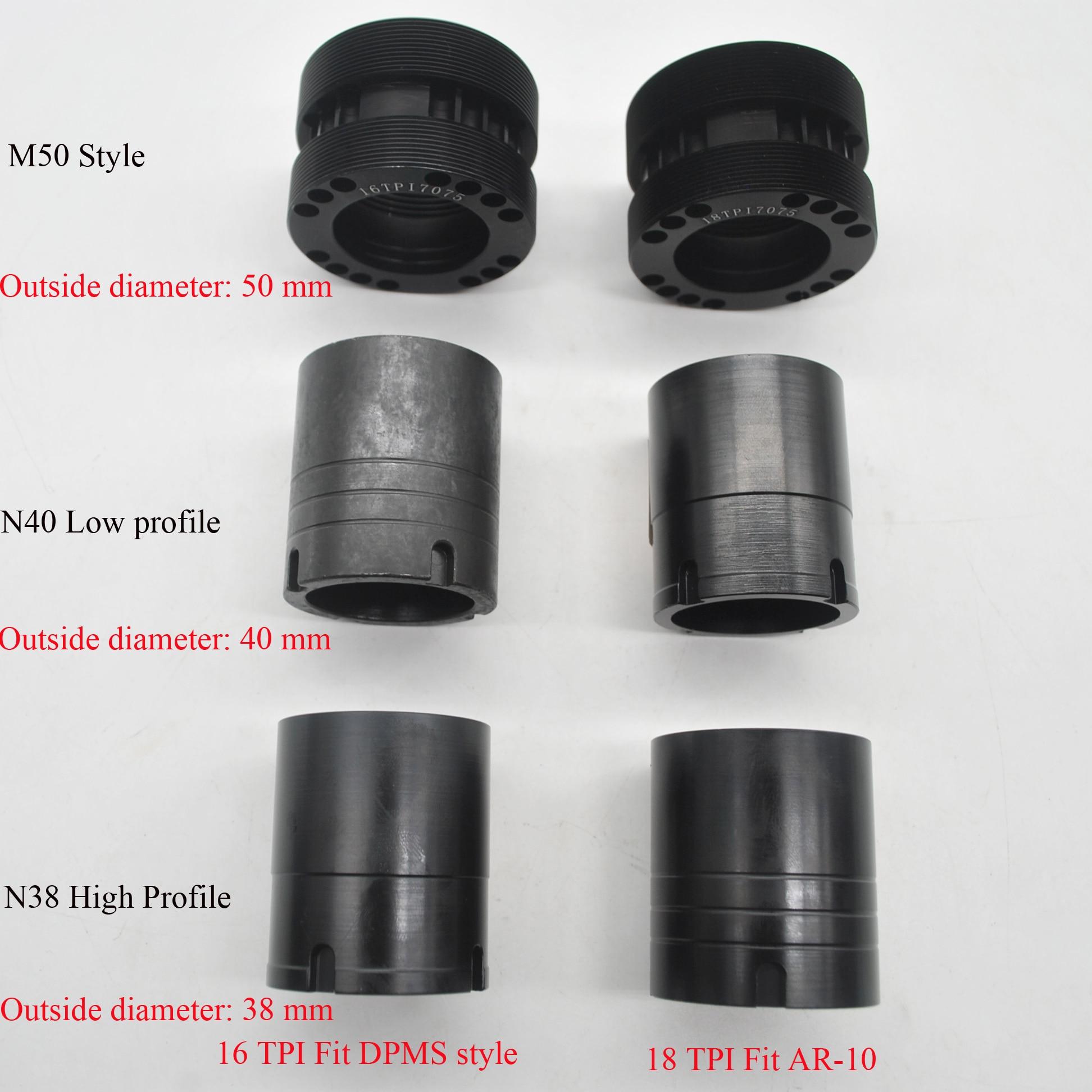Aplus 6 Kinds Barrel Nut Of .308/7.62 Handguard Rail 16/18 TPI Barrel Nuts Free Shipping