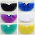 YNB Children Baby Girls Tutu Skirt Children's Dance Skirt Translucent 3-Layer Net Yarn 2017 Fashion Girl Clothing Skirt L 28CM