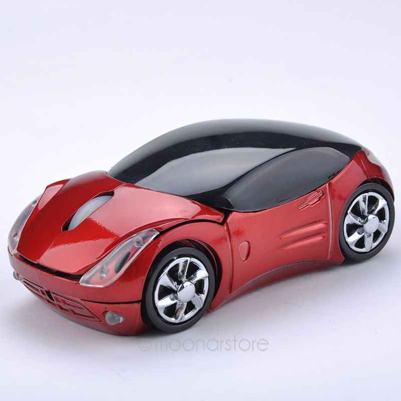Gaya baru USB 2.4GH Souris Optique Voiture Mobil Nirkabel USB2.0 Optical Mouse Mice Untuk Laptop PC Komputer