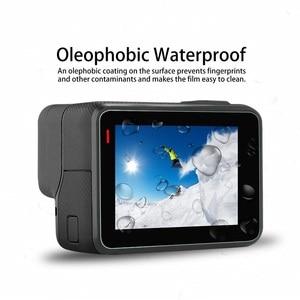 Image 2 - VSKEY 100PCS Tempered Glass for GoPro Hero 7 6 5 Camera LCD Screen Protector + Lens Cap Protective Film for Hero 5/6/7