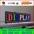 "Free shipping 26""x 8""  Programmable LED Scrolling Message Display Sign  led panel Indoor Board P5  full color"