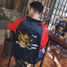 2016 New Winter Japanese Original Night Wind Dragon Embroidery Jacket Wearing Double Back One Generation