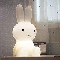 Rechargeable Rabbit Led Night Light Desk Atmopshere Gift Lamp For Decorating Children Baby House