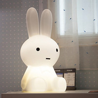 Rechargeable Rabbit Led Night Light Desk Atmopshere Gift Lamp For Decorating Children Baby House