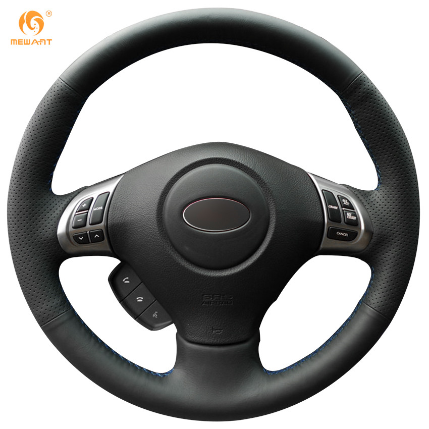 Prix pour Mewant Noir Artificielle Couverture de Volant En Cuir pour Subaru Forester 2008-2012 Impreza 2008-2011 Héritage 2008-2010 Exiga 2