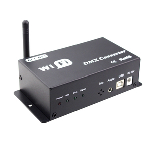 Image 5 - Led 12v wifi led controller dmx 512 controller converteren wifi signaal in dmx signaal door IOS of Android systeem controle led lampen