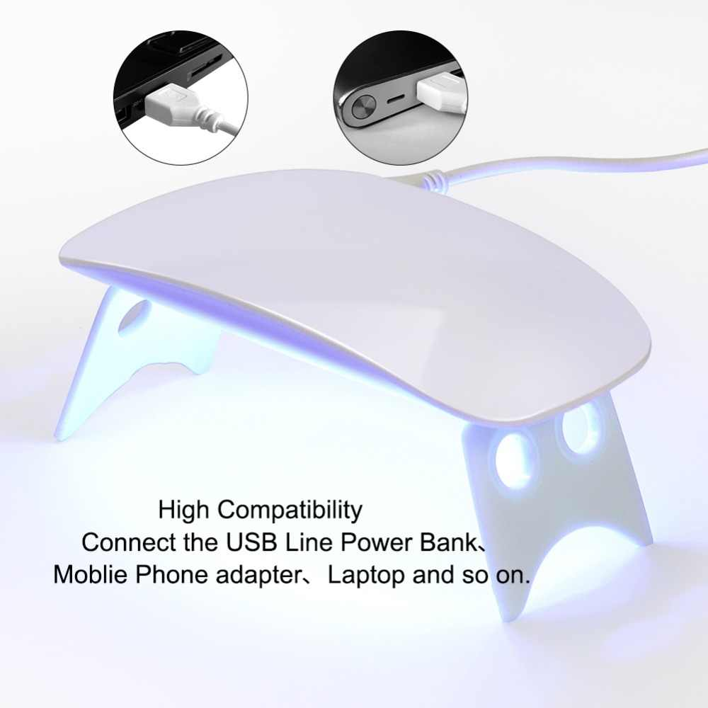 COSCELIA 6 W Mini UV coloidal lámpara de curado portátil Gel de uñas secador de esmalte Cable USB para Primer regalo uso doméstico lámpara de uñas suministros