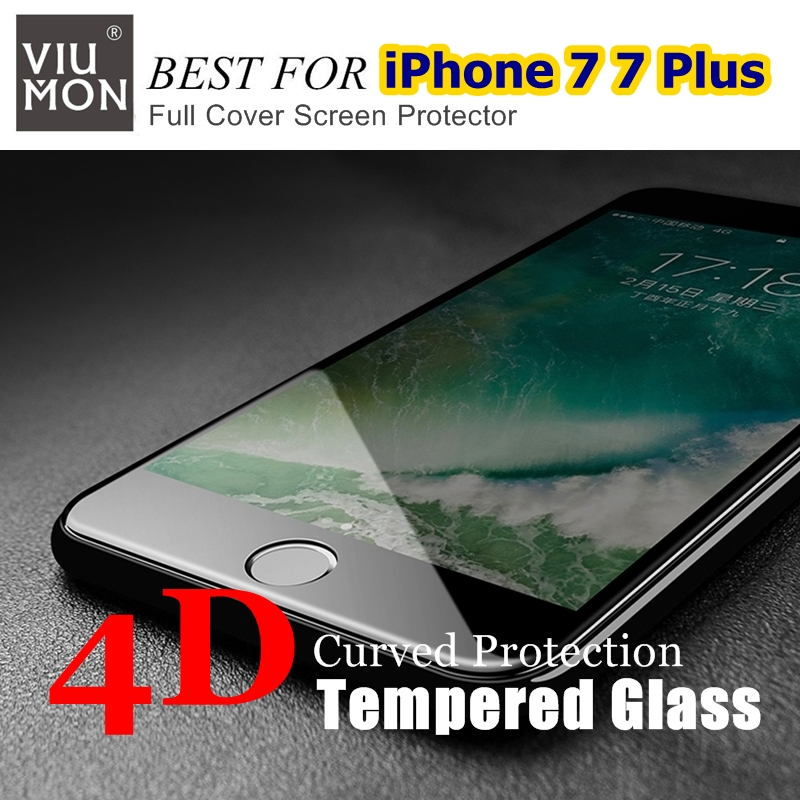2017 New Full Cover 4D Tempered Glass For iPhone 7 4D Glass Film COLD - Ανταλλακτικά και αξεσουάρ κινητών τηλεφώνων