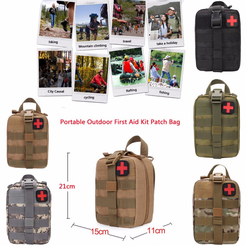 Outdoor Sports Cycling Emergency Camping First Aid Kit Tactical Survival Kit Molle Rip-Away EMT Pouch Bag IFAK Medical Waist Bag