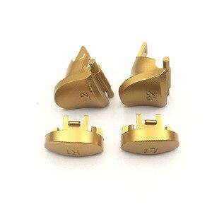 Image 2 - Metal de alumínio l1 r1 l2 r2 botão conjunto para ps4 magro pro controlador jds JDM 040 botões gatilho