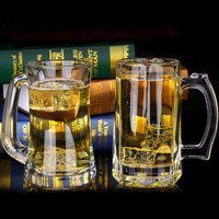 European Style Lead Free Glass Beverage Cup Milk Cup Juice Cup Beer Mug Thickening Heat Resistance