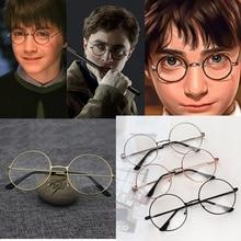Очки Харри Поттер в винтажном стиле с круглой оправой для косплея, игрушки для детей, взрослых и детей
