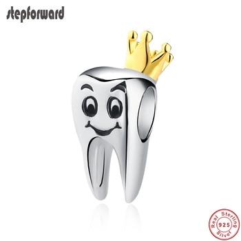 e4306fbcb64c Nueva llegada populares de calidad superior hermosa corona de oro 925 Real  Corona de plata dientes