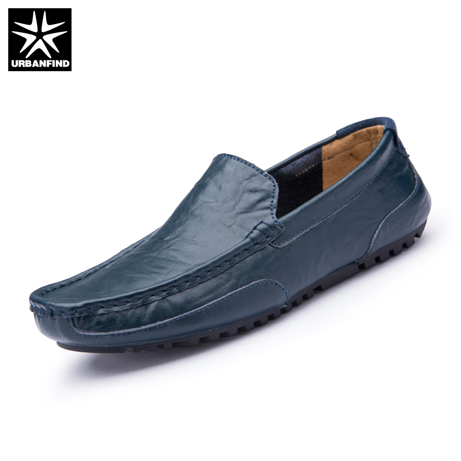 URBANFIND Men Fashion Leather Loafers Slip On Footwear Size 38-44 Breathable Man 2017 Summer Flats Casual Driving Shoes zapatillas hombre 2017 fashion comfortable soft loafers genuine leather shoes men flats breathable casual footwear 2533408w