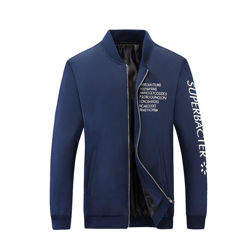 De La Chaqueta Marino Abrigos Tamaño Casual Y Primavera Nuevo Moda azul Otoño Chaquetas 2018 Negro Hombres Del Más Bombardero Mens w6HqP