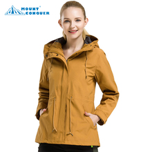 цена на Women's Outdoor Camping Trekking Windbreaker Female Hooded Fleeced Coat Jaqueta Waterproof Autumn Winter Hiking Jackets