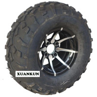 XUANKUN ATV 12 Inch Tires Front Wheel 25X8 12 Rear 25X10 12 Inch Tires 12 Inch Aluminum Alloy Wheels