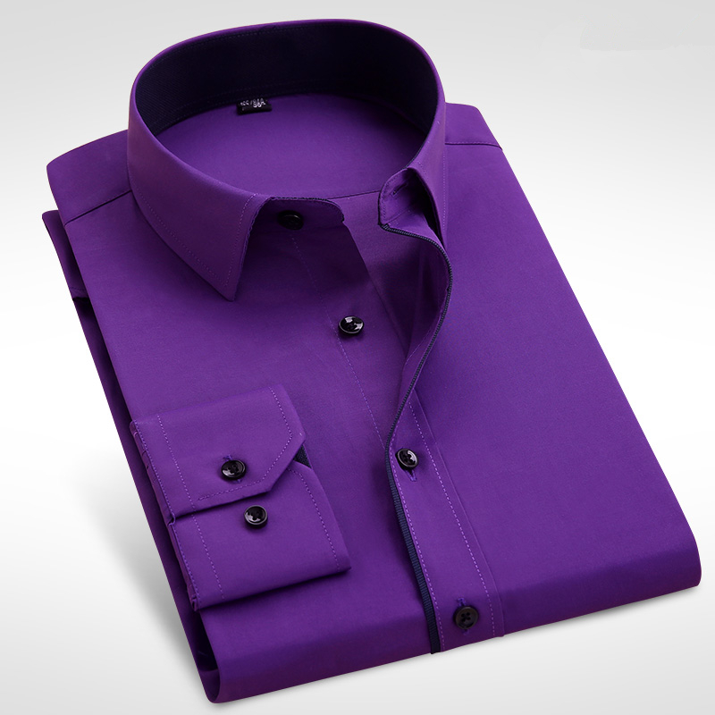 Formal Business Men Long Sleeve Dress Shirt Brand Male