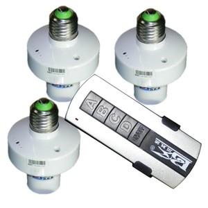 Image 4 - 1/2/3/4 * E27 Kablosuz Uzaktan Kumanda Işık Lambası taban oN/off Anahtarı Soketi tutucu rc akıllı cihaz 110V 220V
