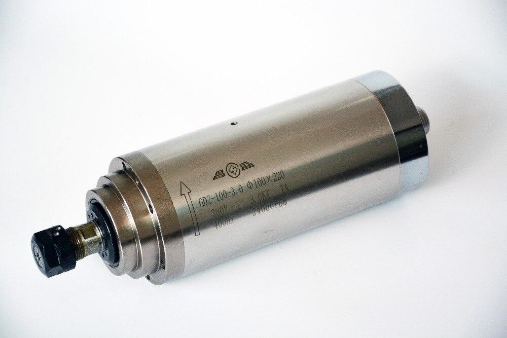 ЧПУ деревообрабатывающий 220 В ER20 3.0kw шпиндель с водяным охлаждением 3 кВт шпиндель мотор водяное охлаждение гравировальный шпиндель для дер