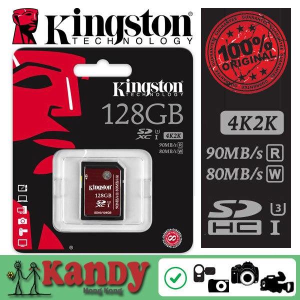 ПРОДАЖИ U3 Kingston карты памяти sd Class 3 UHS-I SDHC SDXC HD видео 128 ГБ высокоскоростной 2 К 4 К видео картао де memoria carte tarjeta sd