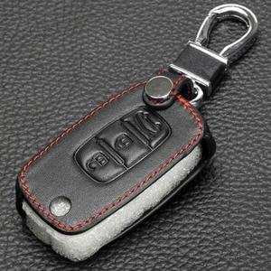 Image 3 - jingyuqin Flip key Leather Case for Renault Dacia LADA Sedan Largus Kalina Granta Vesta X Ray XRay Remote Fob Cover Protect Set