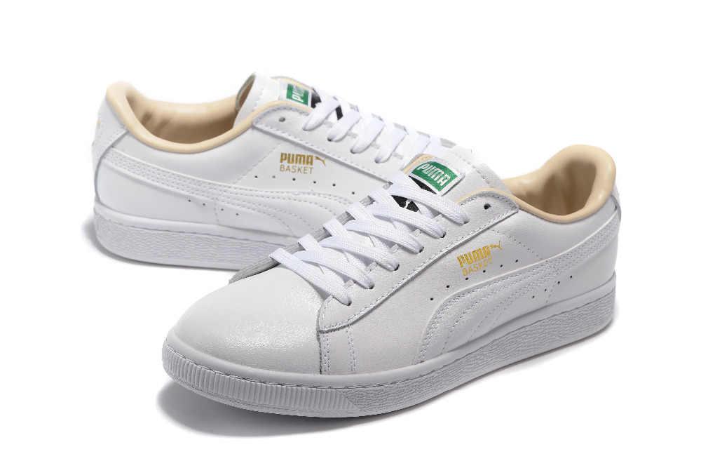 pas mal b0b73 d6317 Free shipping 2018 Original BTS x Puma Collaboration Puma Court Star Korea  Cadet shoes men's Sneakers Badminton Shoes Size40-44