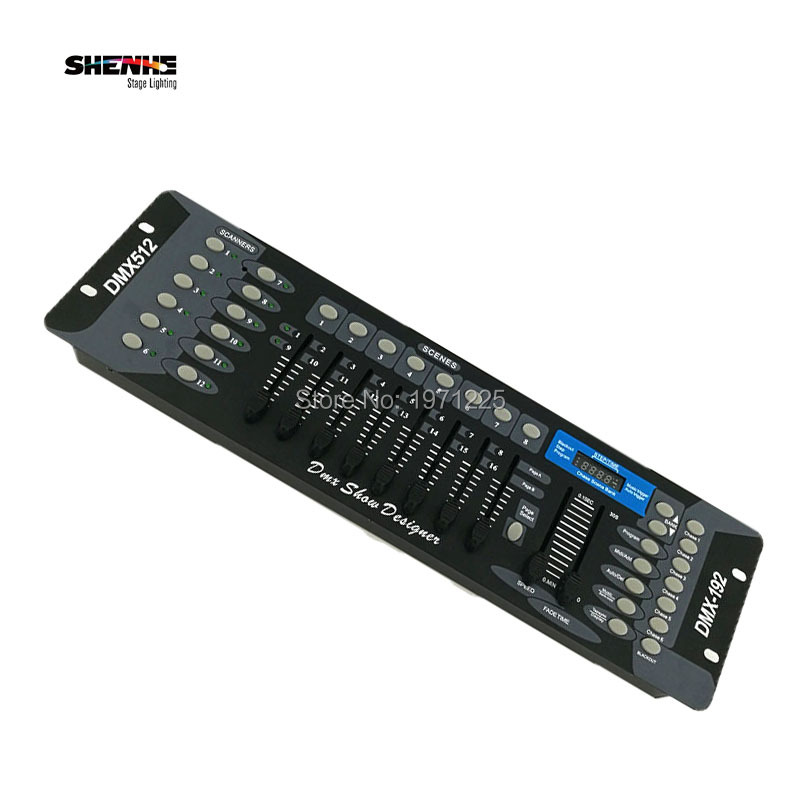192 DMX Controller DMX Console DJ Controller Stage Lighting DJ equipment for Led Par/ Led Moving Head niugul dmx stage light mini 10w led spot moving head light led patterns lamp dj disco lighting 10w led gobo lights chandelier