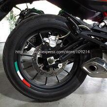 Pegatinas para rueda de bicicleta de borde reflectante, para Aprilia MV Agusta Benelli, 4 Uds., Italia, 12 14 15 17 pulgadas