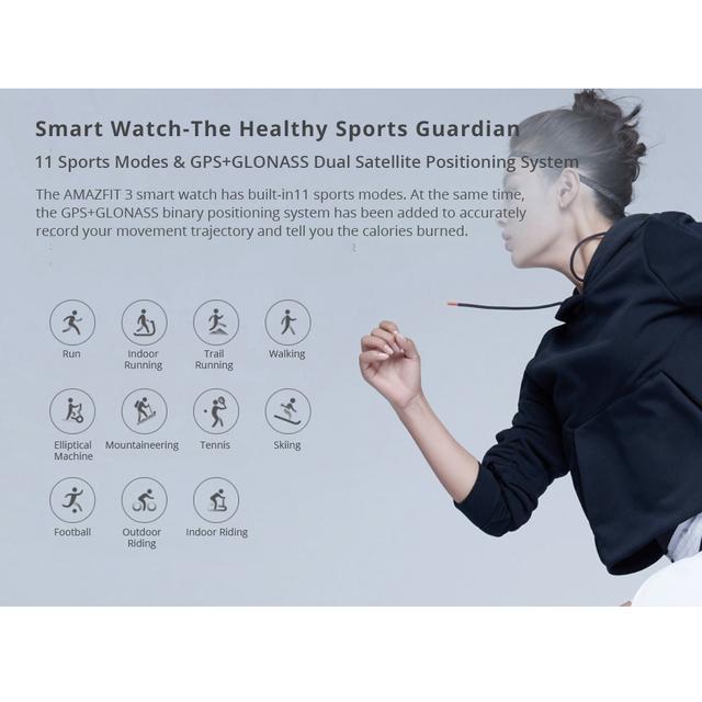 [Global version]  Huami AMAZFIT Verge 3 Smart Watch Alexa GPS IP68 Waterproof Multi-Sports Smartwatch Health Tracker