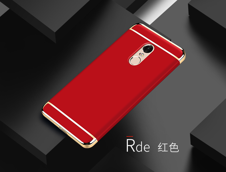 finest selection f694f a2a5d US $6.59 |for Xiaomi Redmi Note 4 Case Note4 Luxury plating Full Protection  3 in 1 Fundas Hard Back Cases for Red Mi Note 4 Hongmi Note 4 on ...