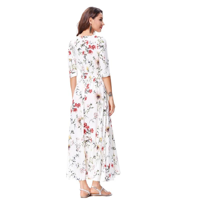 9370517ca518 Kate Kasin Boho Women Long Dress 2017 Summer Sweet Ladies Beach Long Robe  Rayon V neck Half Sleeves Maxi Dress Sundress Vestidos-in Dresses from  Women s ...