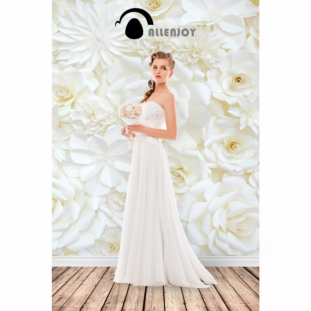 Allenjoy photo background White backdrop rose wood Valentine wedding romantic baby photography backdrops background for photos 130x150cm baby photo about 3d rose fabric photo blanket photography backdrop satin bridal wedding background rug