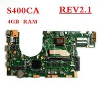 S400CA 2117/I3/I5/I7 CPU with 4GB mainboard REV2.1 For ASUS S400 S400C S400CA S500CA S500C laptop motherboard free shipping
