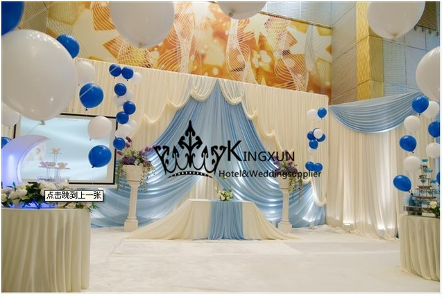 New style wedding backdrop curtains wedding decoration white and sky new style wedding backdrop curtains wedding decoration white and sky blue color junglespirit Image collections
