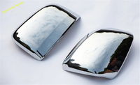 Chrome Side Rearview Mirror Cover 2pcs Trims For Jeep Grand Cherokee 2014 With Turn Light Model