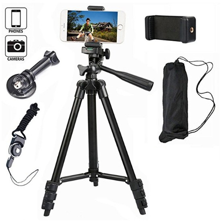 Tripod For Camera Bluetooth Bracket Mobile Phone External Photograph Portable Video Professional Light Tripod Selfi