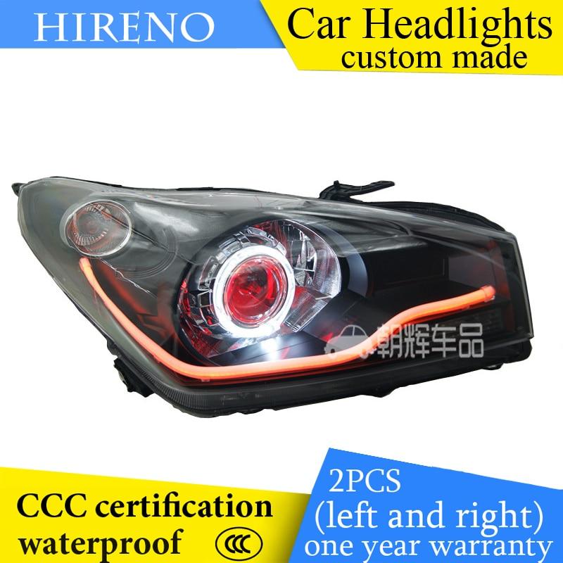 Hireno custom Modified Headlamp for Suzuki Alto Auto 2013 Headlight Assembly Car styling Angel Lens Beam HID Xenon 2 pcs