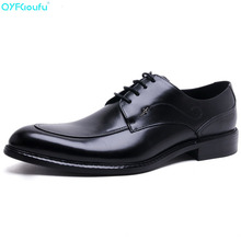 купить Handmade Men Dress Genuine Leather Formal Business Men Oxfords Shoes Designer Men's Flats For Party Wedding Shoe дешево