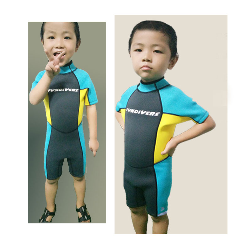 High-Quality Youth Kids Junior Unisex Shorty Wetsuit 2.5mm Neoprene Spring Wet Suit Swim Suits for Boys/Girls 2-12 Years Old ...