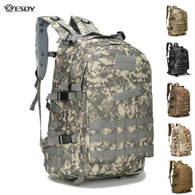 Outdoor Tactical Backpack 45L Large Capacity Molle Army Military Assault Bags Camouflage Trekking Hunting Camping Hiking Bag 1