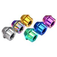 Titanium Nut for Wheel Stud Nuts Wheel Cover M12 Pitch 1.5mm Burglarproof Theftproof Ti Car Modified Ti Fasteners Screw 2 pcs