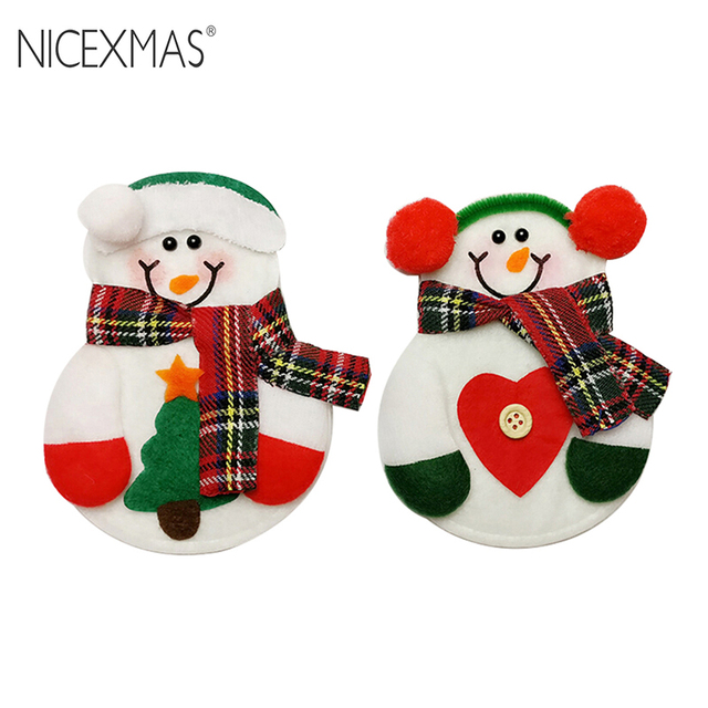 NICEXMAS 2pcs Kitchen Cutlery Suit Silverware Holders Pockets Knifes ...