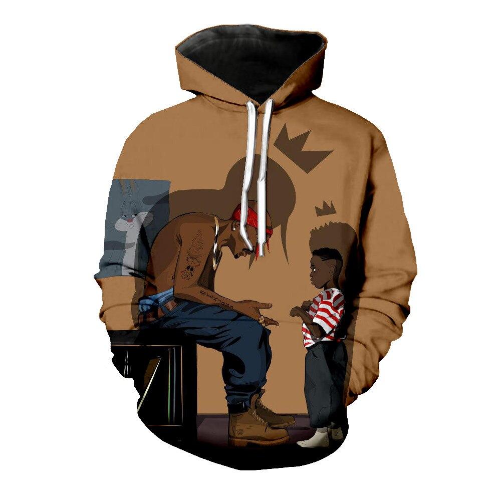 Men's Clothing Charitable 2018 Men Women Sweatshirt 3d Print 2pac Tupac Hoodies Sweatshirt Cool Long Sleeve Crew Neck Brand Clothing Hoodie R3380