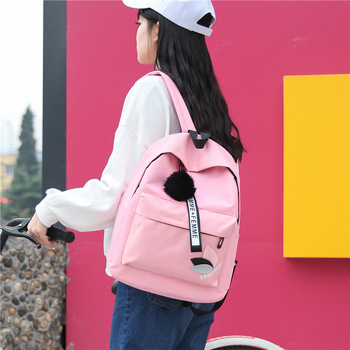 2018 Women Backpack New Best Travel Backpack Student School Bag Korean Hoop Backpack Female Girl Mochila bagpack laptop bag