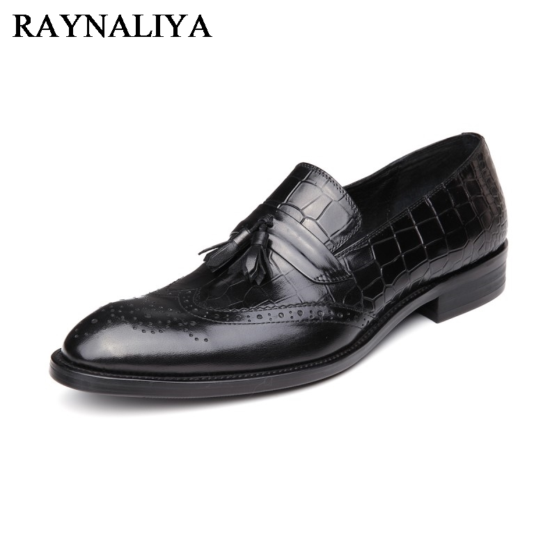 Brand Fashion Men Dress Shoes New Arrive Oxford Shoes For Man High Quality Black Men Genuine Leather Flats YJ-A0038 zxq brand handmade new winter men oxford shoes solid color high quality retro british style men flats leather shoes