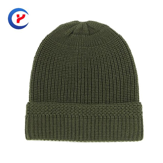 2017 New arrival women Knitting cap army green Knitted Adult Bonnet Caps Autumn Winter Hats For Men Elastic Hip-Hop Cap #x37